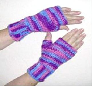 Striped Fingerless Gloves Favecrafts Com