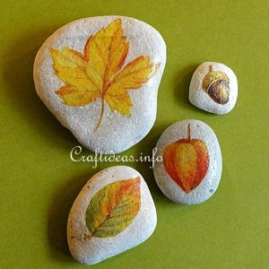 Fall Leaf Stone Paperweights