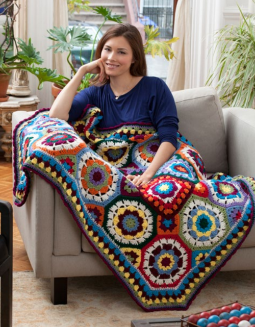 Geometric Color Lovers Throw