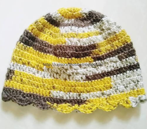 Toddler Shell Stitch Border Cap Free Pattern