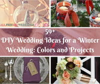 59+ DIY Wedding Ideas for a Winter Wedding: Colors and Projects