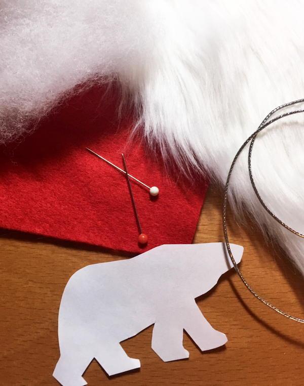 Furry Black Bear Ornament