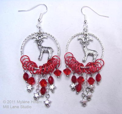 Rudolph-Inspired Earrings