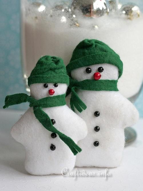 Felt Snowmen Decoration