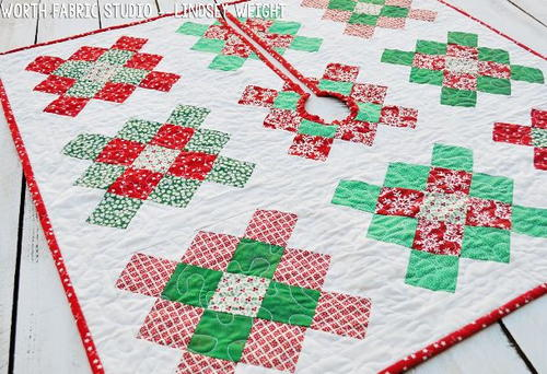 Granny Square Quilted Tree Skirt