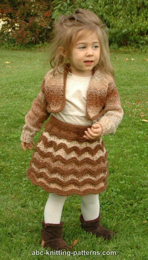 Autumn Gale Girls Cropped Cardigan
