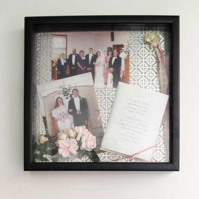 Easy Wedding Day Shadowbox