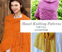 20+ Shawl Knitting Patterns for Fall