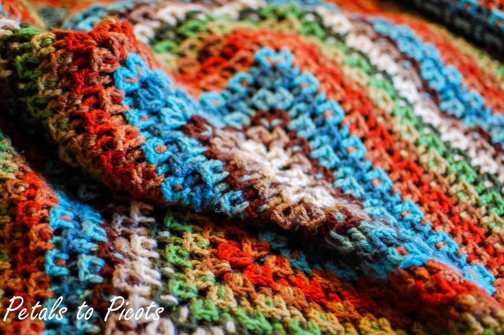 Kaleidoscope Crochet Afghan Allfreecrochetafghanpatterns Com