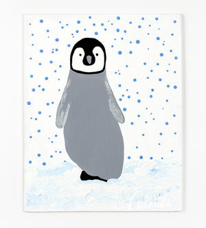 Adorable Footprint Penguin Art