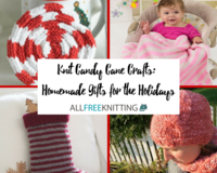 16 Knit Candy Cane Crafts: Homemade Gifts for the Holidays