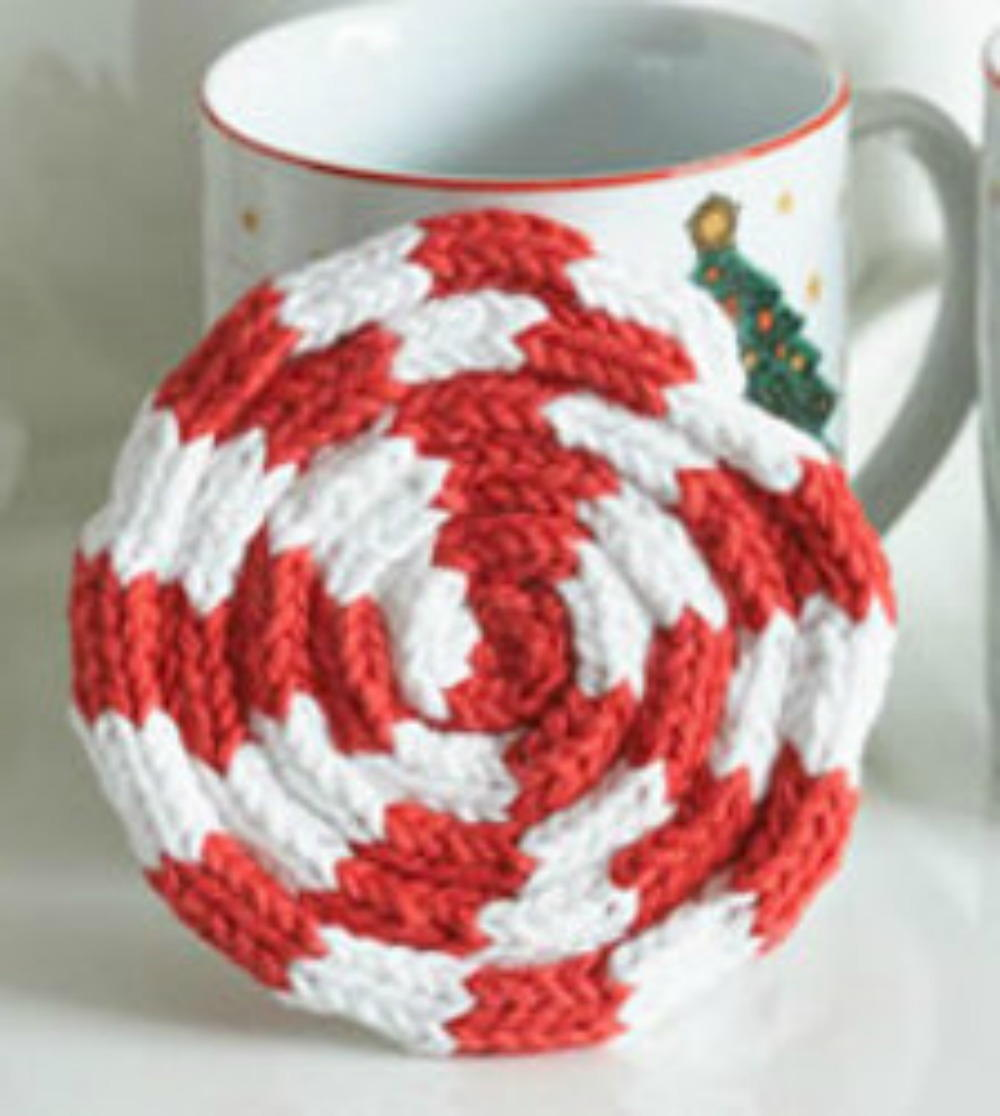 Peppermint drink coaster for Peppermint swirl craft show