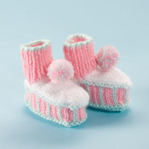 Peppermint Baby Booties