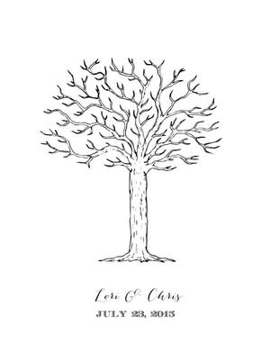 photo relating to Tree of Life Printable called Tree of Everyday living Thumbprint Guestbook
