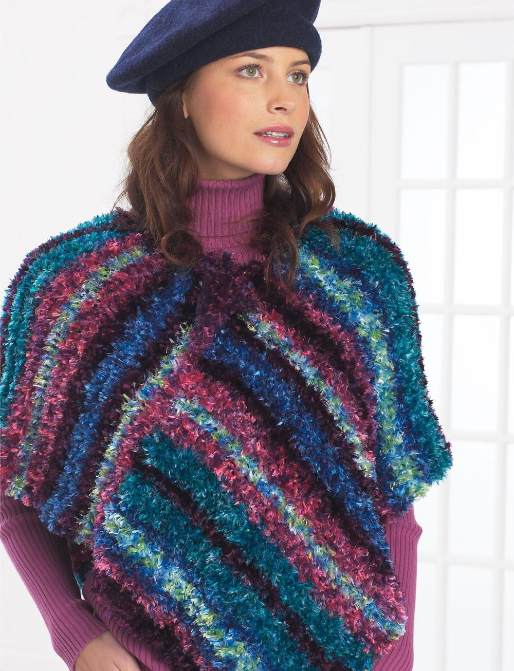 Free Crochet Pattern for Adult Poncho   FaveCrafts.com