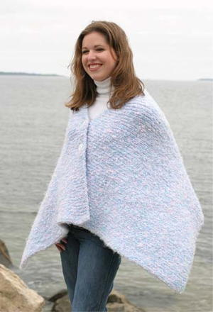 Warm, Nubby Cape with Buttons