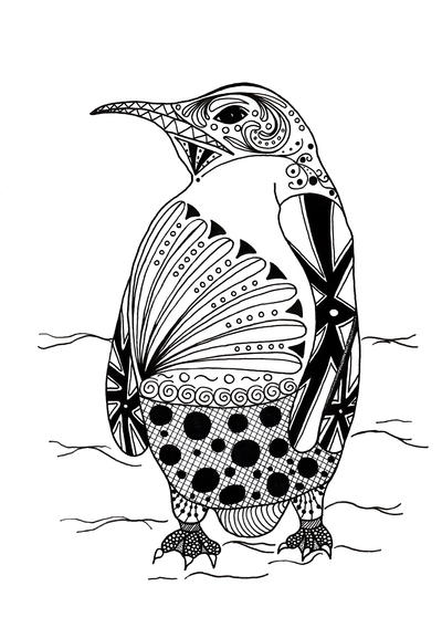 - Intricate Penguin Adult Coloring Page FaveCrafts.com