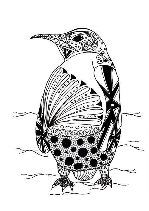 Free Download Zentangle Ostrich Coloring Pages #coloring ... | 710x500