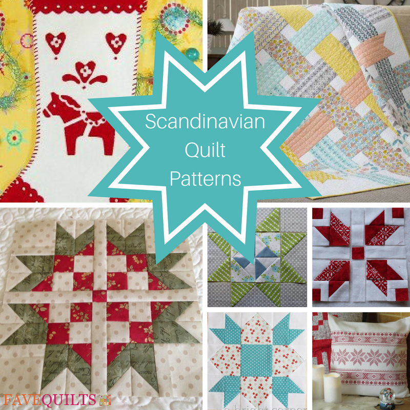 15 Scandinavian Quilt Patterns Favequilts Com