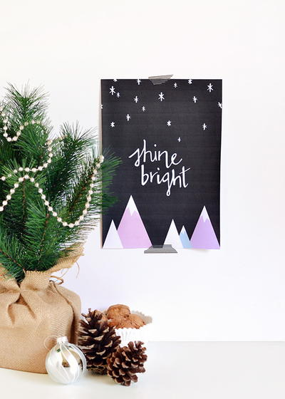 Shine Bright Printable Wall Art