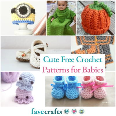 4d7ed30e667e 31+ Cute Free Crochet Patterns for Babies
