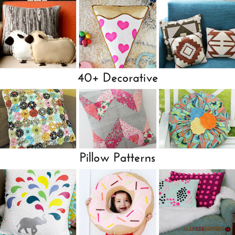 Fancy Throw Pillow Patterns : 40+ Decorative Pillow Patterns AllFreeSewing.com