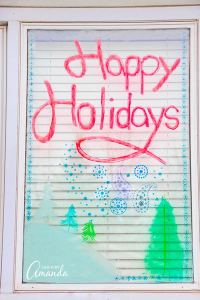DIY Holiday Window Airbrushing Tutorial