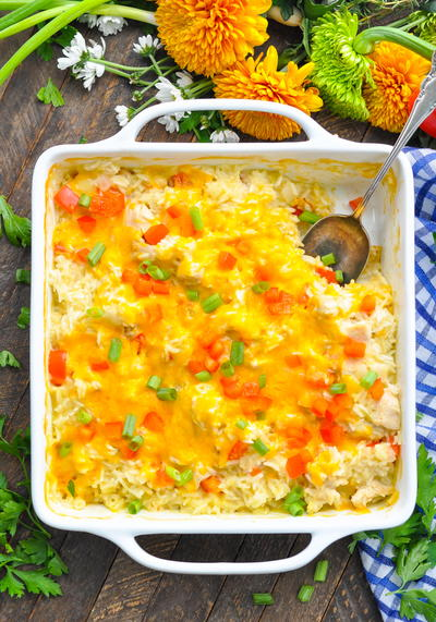 Dump-and-Bake Fiesta Chicken and Rice Bake