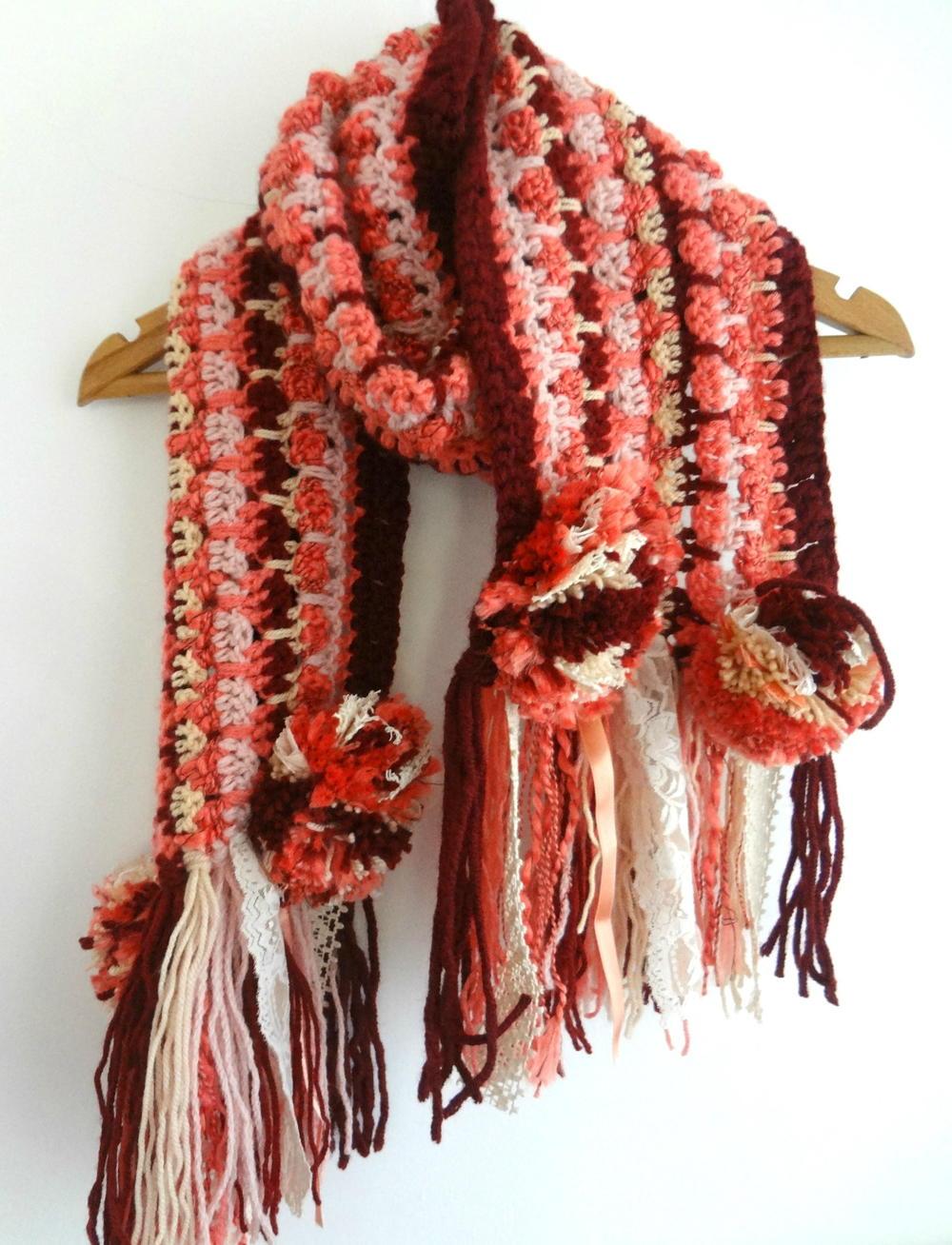 Super Fast Bohemian Crochet Scarf Allfreecrochet Com