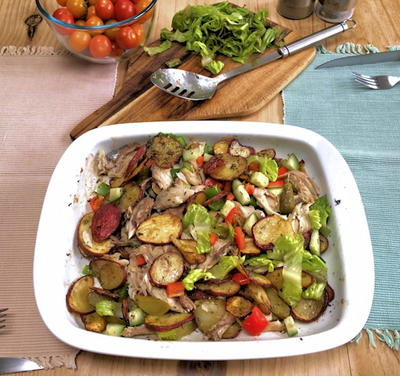 Warm potato and ackerel Salad