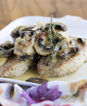 Smothered Pork Chops in Mushroom Sauce