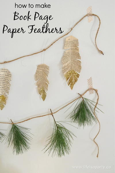 Book Page Feathers