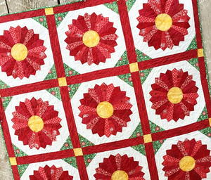 Nordic-Inspired Christmas Poinsettia Quilt