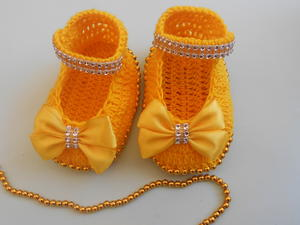 Girls Beaded Booties