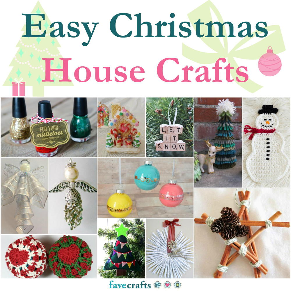 123 Easy Christmas House Crafts