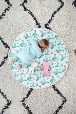 Round Quilted Play Mat