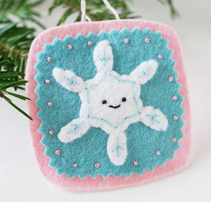 Winter Snowflake DIY Christmas Ornament