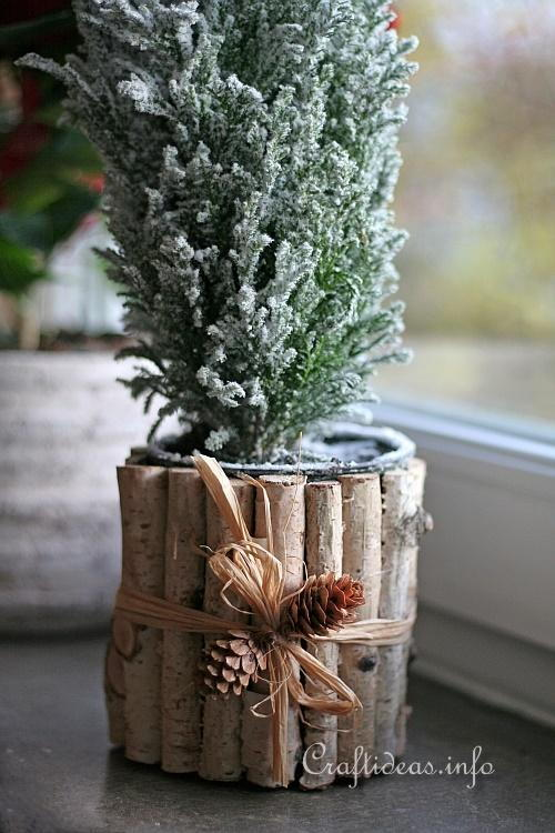 Natural Looking Tin Can Flower Pot