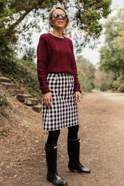 How to Make a Buffalo Plaid Pencil Skirt