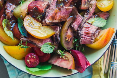 Steak and Tomato Salad