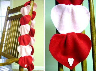 No-Sew Woven Heart Fleece Scarf