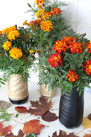 Diy Flower Vase With Plastic Bottle Diyideacenter Com
