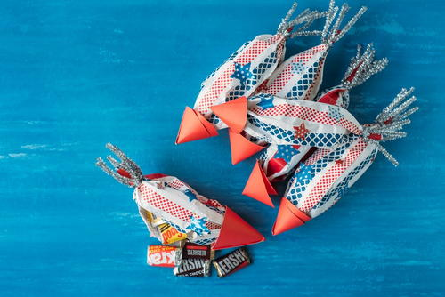 Rocket Candy Bags Patriotic Party Favors