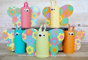Toilet Paper Tube Butterflies