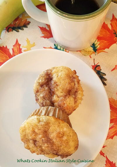 Baking Mix Banana Muffins with Cinnamon Sugar