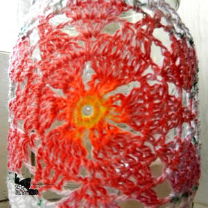 Poinsettia Jar Cozy