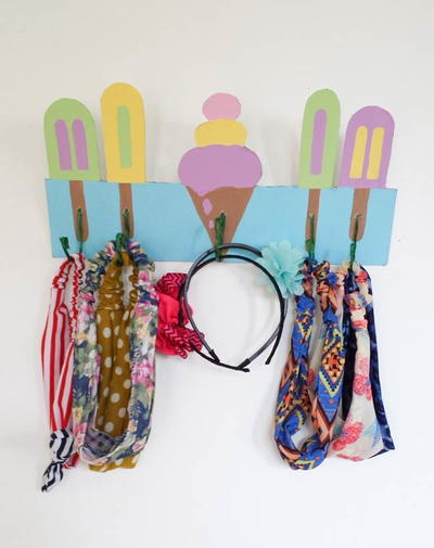 DIY Easy Hairband Organizer