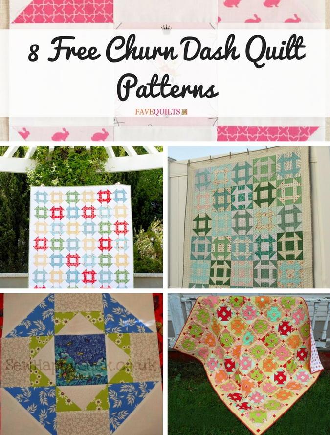 8 Free Churn Dash Quilt Patterns Favequilts Com
