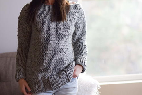 Beginner Chunky Knit Sweater Pattern