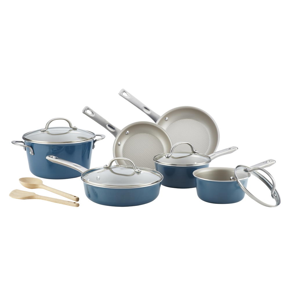 Ayesha curry porcelain enamel 12 piece cookware set for Ayesha curry cookware